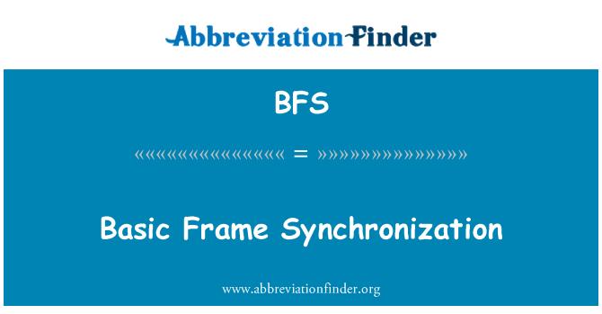 BFS: Basic Frame Synchronization