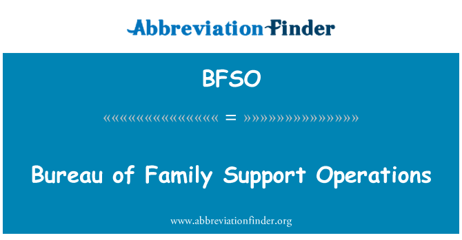 BFSO: Bureau of Family Support Operations