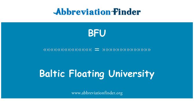 BFU: Baltic Floating University