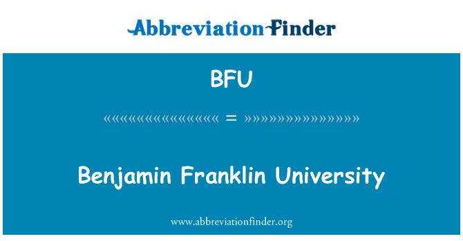 BFU: Benjamin Franklin University