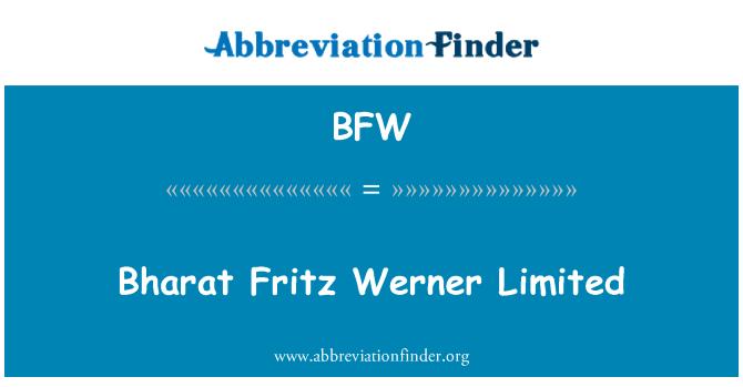 BFW: Bharat Fritz Werner Limited