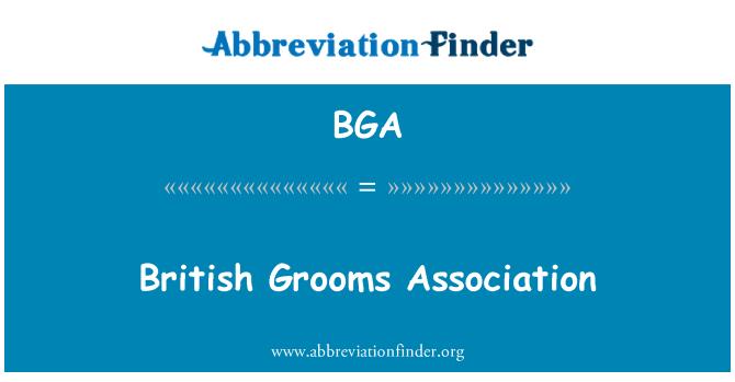 BGA: British Grooms Association