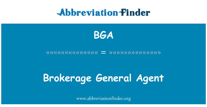BGA: Brokerage General Agent
