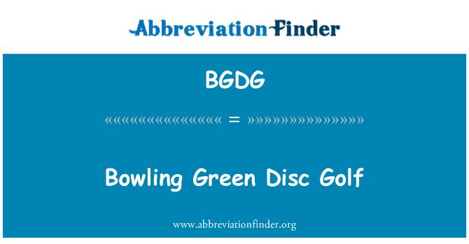 BGDG: بولنگ گرین ڈسک گالف