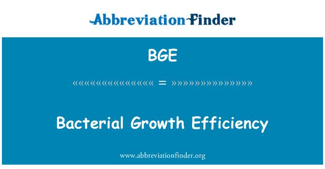 BGE: Bacterial Growth Efficiency