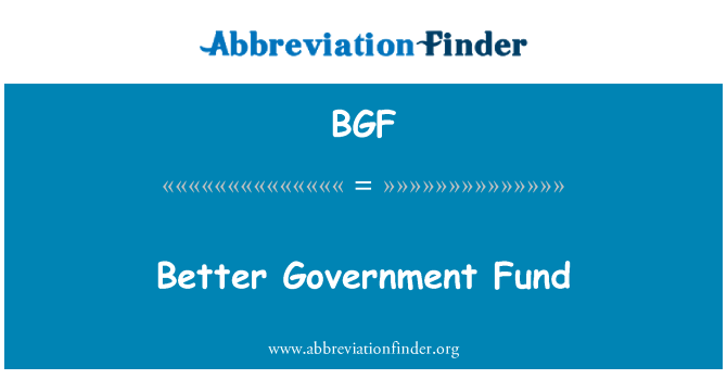 BGF: Better Government Fund