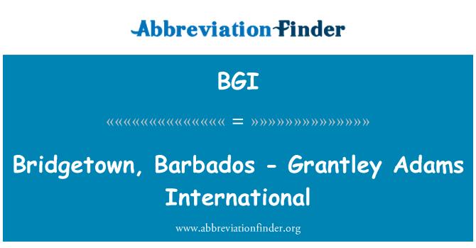 BGI: Bridgetown, Barbados - Grantley Adams International