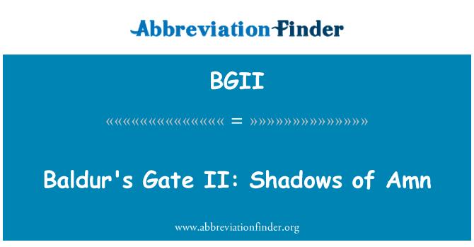 BGII: Baldur's Gate II: Amn gölgeler