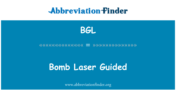 BGL: Bomb Laser Guided