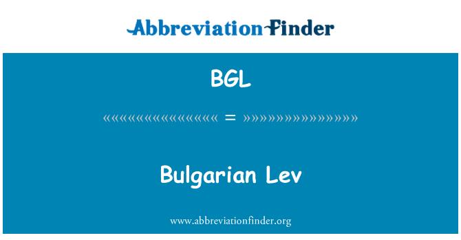 BGL: Bulgarian Lev