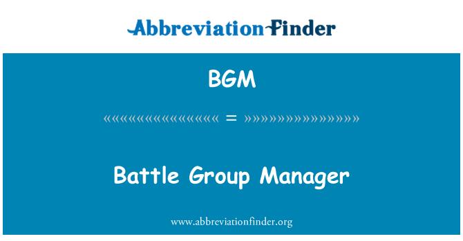 BGM: Battle Group Manager