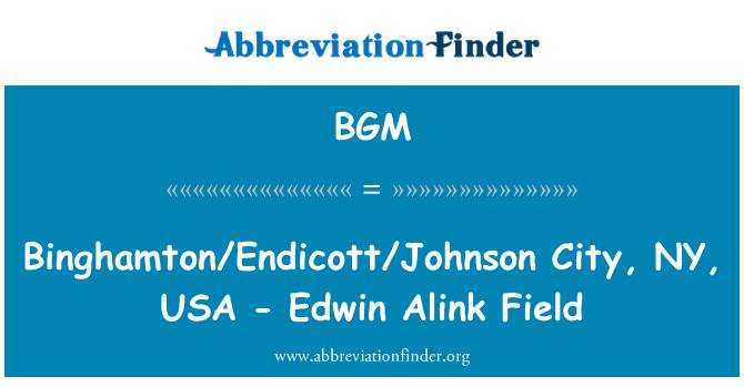 BGM: Binghamton/Endicott/Johnson City, NY, USA - Edwin Alink Field