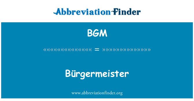 BGM: Bürgermeister