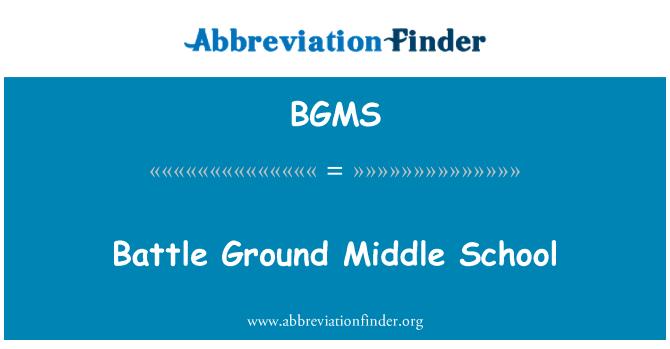 BGMS: Battle Ground Middle School