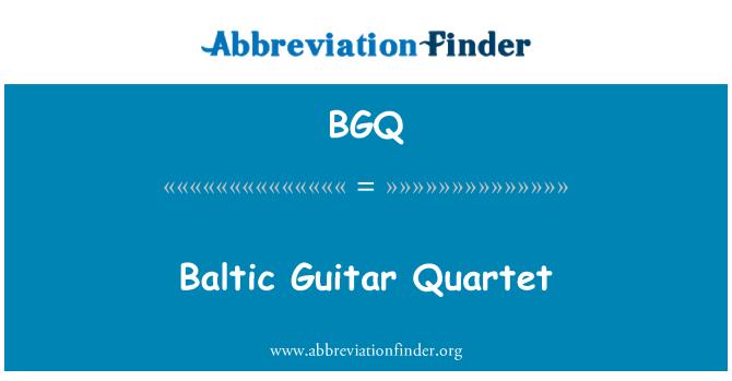 BGQ: Baltic Guitar Quartet