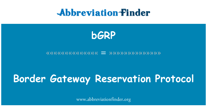 bGRP: Border Gateway Reservation Protocol