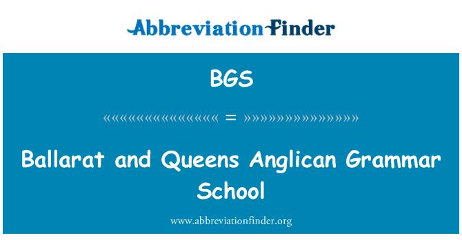 BGS: Ballarat and Queens Anglican Grammar School