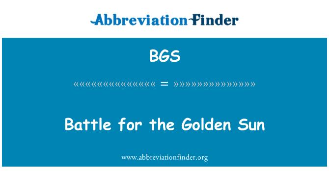 BGS: Battle for the Golden Sun