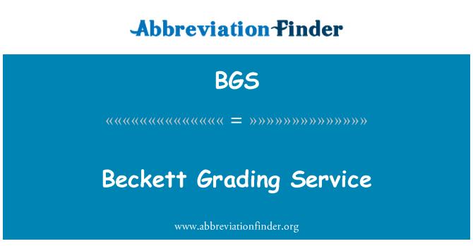 BGS: Beckett Grading Service