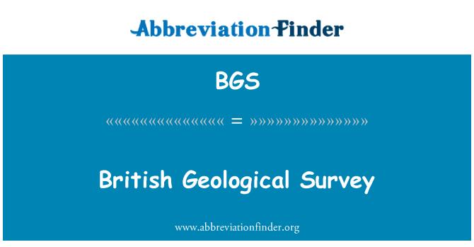 BGS: British Geological Survey