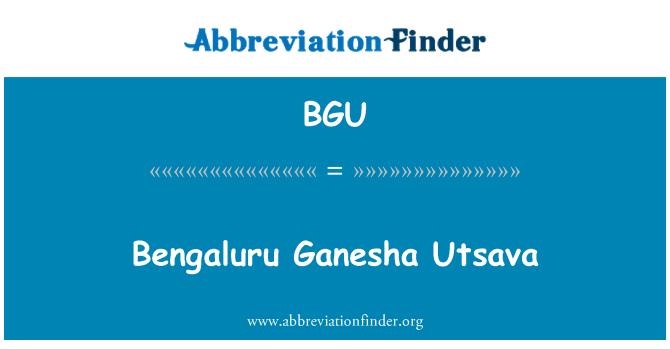 BGU: Bengaluru Ganesha Utsava