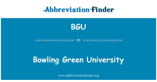 BGU: Bowling Green University