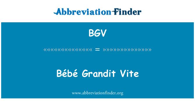 BGV: Bébé Grandit Vite
