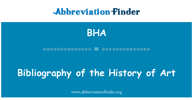 BHA: Bibliography of the History of Art