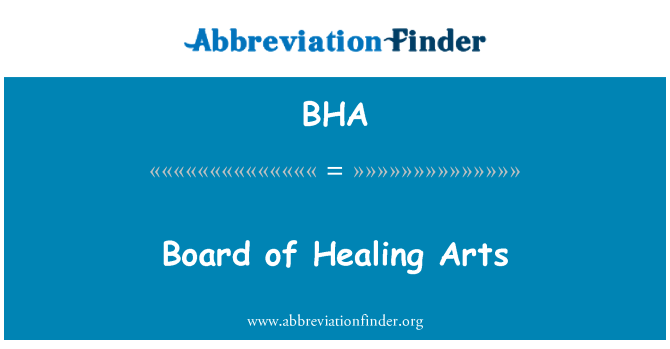 BHA: Board of Healing Arts