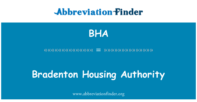BHA: Bradenton Housing Authority