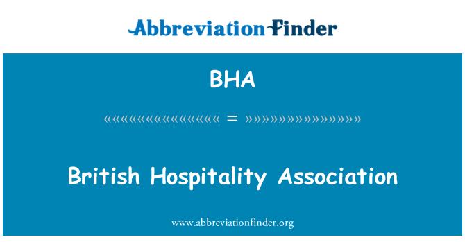BHA: British Hospitality Association