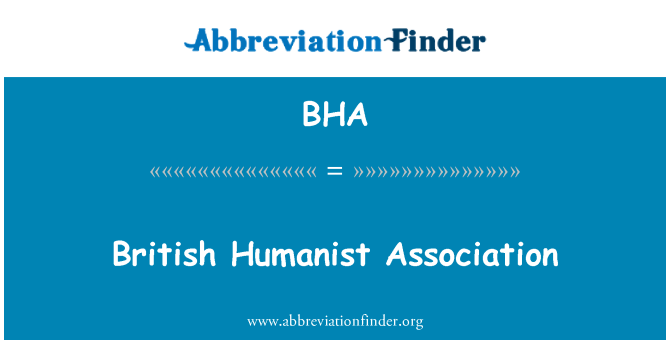 BHA: British Humanist Association