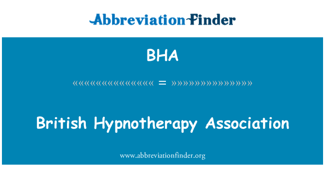 BHA: British Hypnotherapy Association
