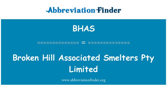 BHAS: Kırık Hill dökümcüleri Pty Limited ilişkili
