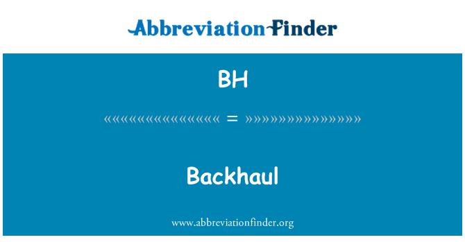 BH: Backhaul