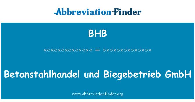 BHB: Betonstahlhandel und Biegebetrieb GmbH