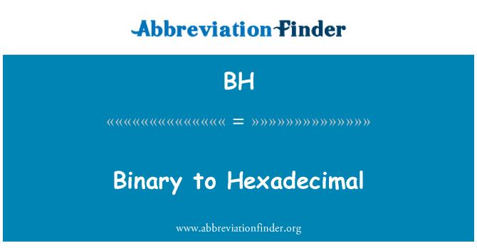 BH: Binary to Hexadecimal