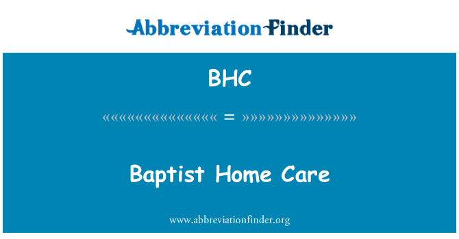 BHC: Baptist Home Care