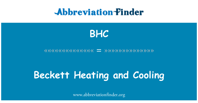 BHC: Beckett Heating and Cooling