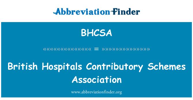 BHCSA: British Hospitals Contributory Schemes Association