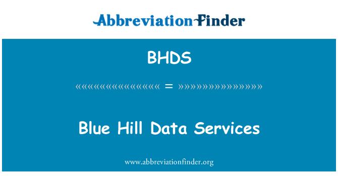 BHDS: Blue Hill Data Services