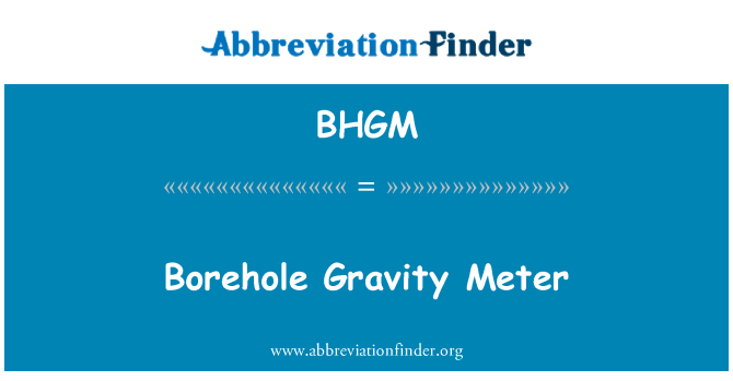 BHGM: Borehole Gravity Meter