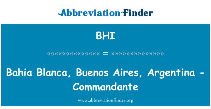BHI: Bahia Blanca, Buenos Aires, Argentina - Commandante