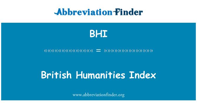 BHI: British Humanities Index