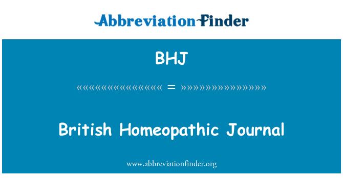 BHJ: British Homeopathic Journal
