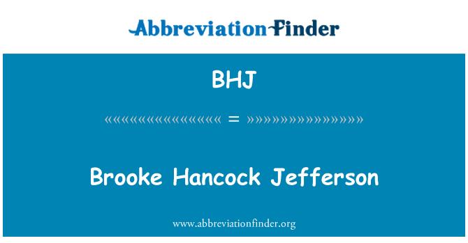 BHJ: Brooke Hancock Jefferson