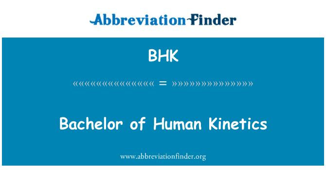 BHK: Bachelor of Human Kinetics