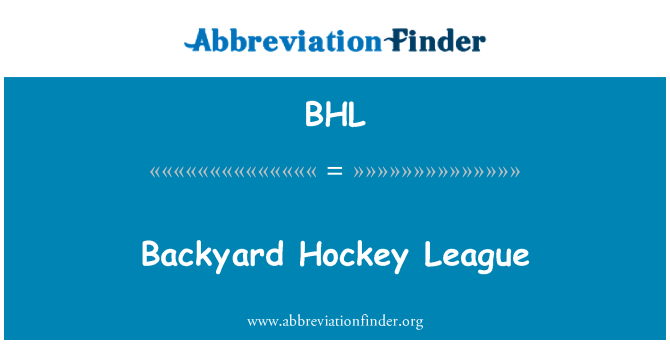 BHL: Backyard Hockey League