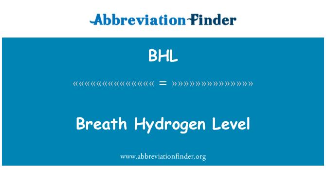 BHL: Breath Hydrogen Level