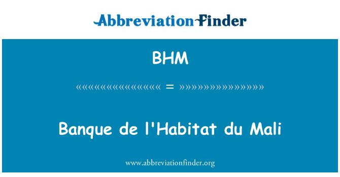 BHM: Banque de l'Habitat du Mali